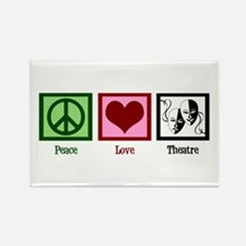 Peace Love Theatre Rectangle Magnet (100 pack)