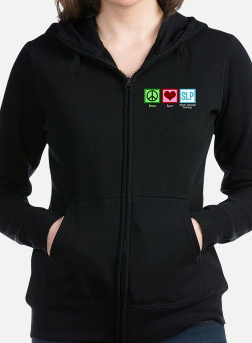 Speech-Language Pathology. Women's Zip Hoodie