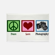 Peace Love Photography Rectangle Magnet (100 pack)