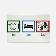 Eat Sleep Act Rectangle Magnet (10 pack)