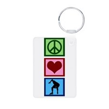 Peace Love Speed Skating Keychains