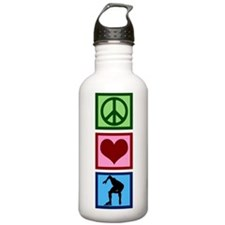 Peace Love Speed Skating Water Bottle
