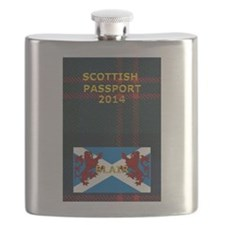 Tartan Passport family name Blair Flask