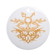 Transgender Tribal Heart Ornament (Round)