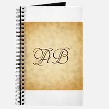 Brown Monogram Vintage Style Journal