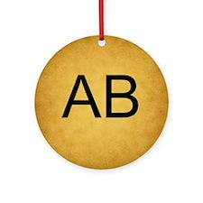 Vintage Style Monogram Custom Ornament (Round)