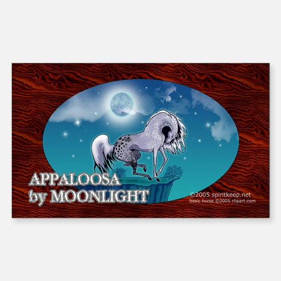 Appaloosa Horse by Moonlight Rectangle Decal