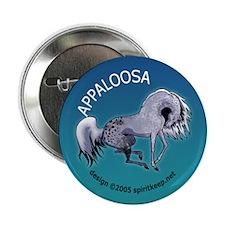 Appaloosa Horse by Moonlight Button