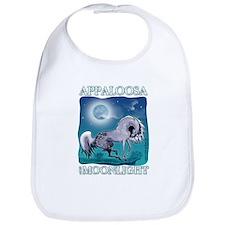 Appaloosa Horse by Moonlight Bib