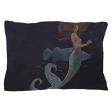 Mermaid and the Blue Fish Pillow Case