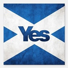 "Yes Scotland flag Square Car Magnet 3"" x 3"""