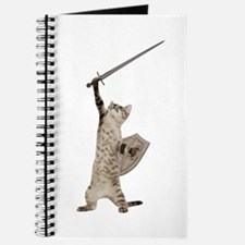 Heroic Warrior Knight Cat Journal