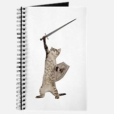 Heroic Warrior Knight Cat Journal