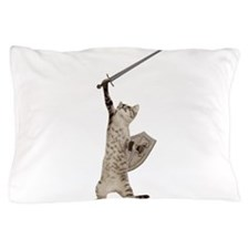 Heroic Warrior Knight Cat Pillow Case