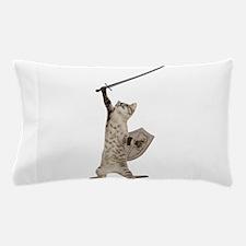 Heroic Warrior Knight Cat Pillow Case