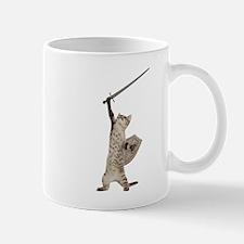 Heroic Warrior Knight Cat Mugs