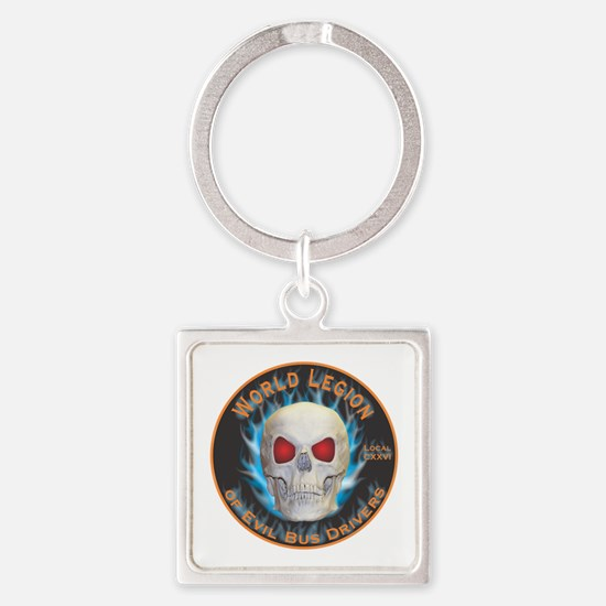 Legion of Evil Bus Drivers Square Keychain