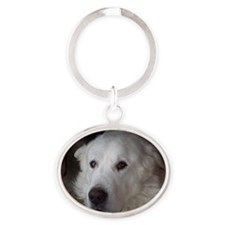Great Pyrenees Oval Keychain