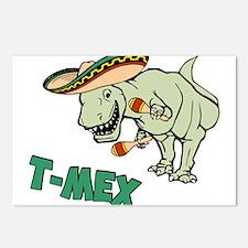 T-Mex T-Rex Mexican Tyrannosaurus Dinosaur Postcar