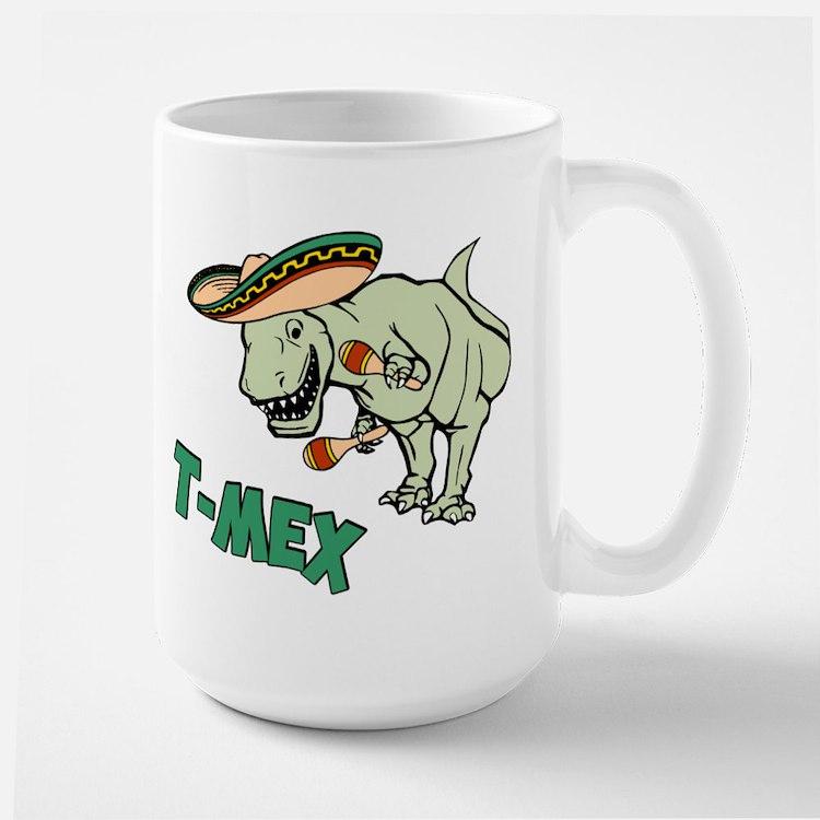 T-Mex T-Rex Mexican Tyrannosaurus Dinosaur Mugs
