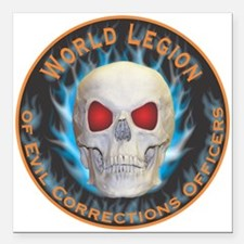 Legion of Evil Corrections Officers Square Car Mag