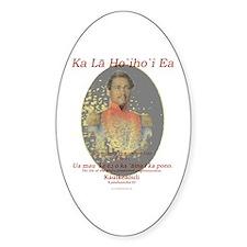 Hawaiian Sovereignty Oval Decal
