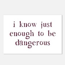 I Know Just Enough To Be Dangerous Postcards (Pack