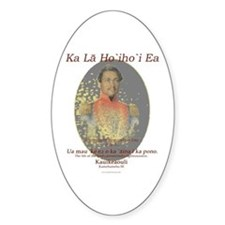 Hawaiian Sovereignty Oval Decal
