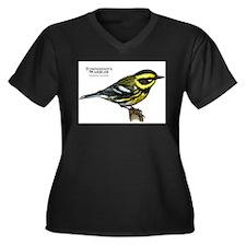 Townsend's Warbler Women's Plus Size V-Neck Dark T
