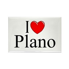 """I Love Plano"" Rectangle Magnet"