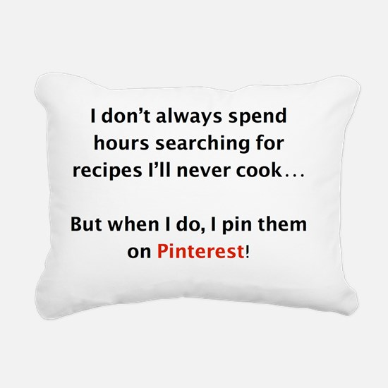 Recipes on Pinterest Rectangular Canvas Pillow