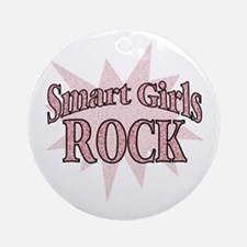 Smart Girls Rock Ornament (Round)