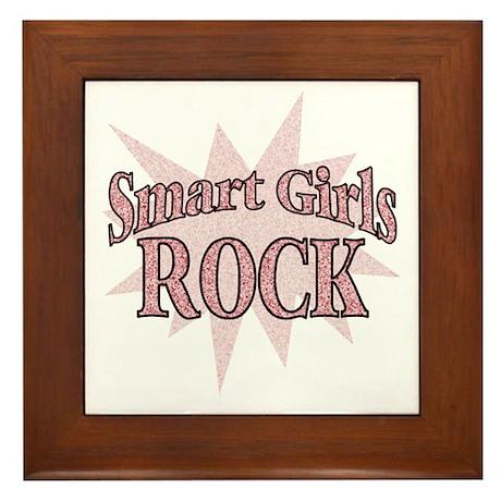 Smart Girls Rock Framed Tile