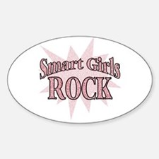 Smart Girls Rock Oval Decal