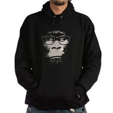 Hipster Gorilla With Glasses Hoody