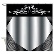 Silver Mystique Shower Curtain