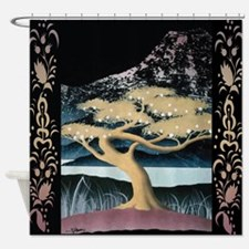 Mount Fuji And Bonsai Tree #2 Shower Curtain