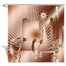 Jazz Jam Kokopelli Shower Curtain