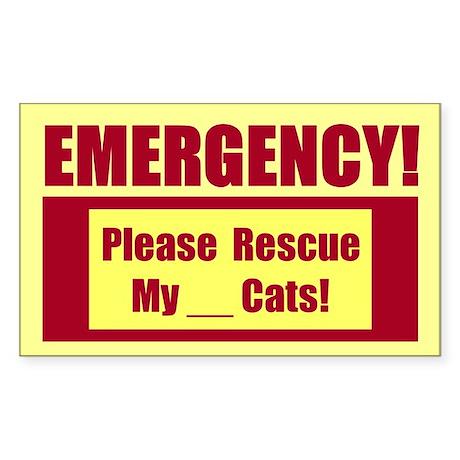 Rescue My Cats - Emergency Door/Window Sticker B