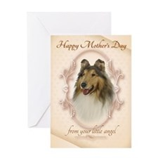 Funny Collie Mothers Day Cards