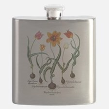 Vintage Tulips by Basilius Besler Flask