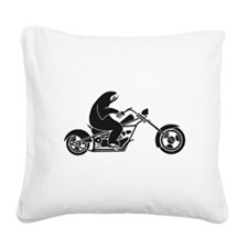 Slow Sloth On A Fast Bike Square Canvas Pillow