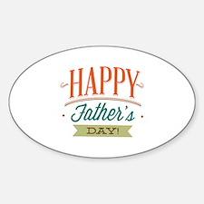 Happy Father's Day Sticker (Oval)