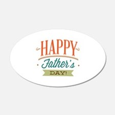 Happy Father's Day 22x14 Oval Wall Peel
