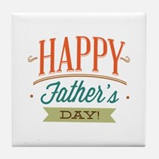 Happy Father's Day Tile Coaster