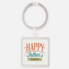 Happy Father's Day Square Keychain