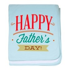Happy Father's Day baby blanket