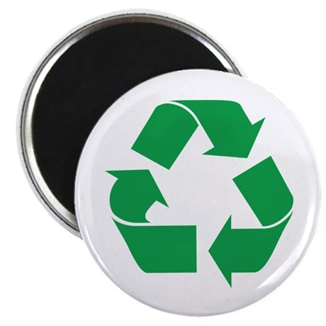 """Green Recycle 2.25"""" Magnet (10 pack)"""