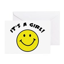 It's A Girl Greeting Cards (Pk of 10)