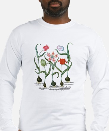 Vintage Tulips by Basilius Bes Long Sleeve T-Shirt